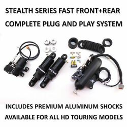 Harley Davidson Stealth Series Fast Front And Rear Air Ride Plug N Play 2014-16