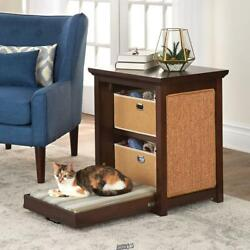 Cats Murphy Bed Integrated Pull-down Bed Side Table Built-in Storage Scratch Pad