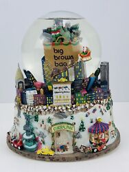 Vintage Bloomingdales Nyc Central Park Twin Towers Musical Snow Globe Pre 9/11