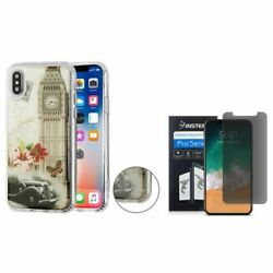 For iPhone XS/X Big Ben TPU Rubber Candy Skin Case Cover w/Screen Privacy Filter