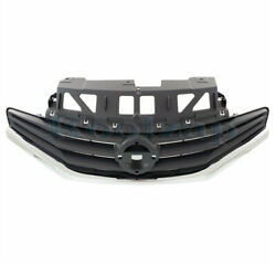 For 14-16 Versa Note Hatchback Front Grill Grille Assembly Grey W/chrome Molding