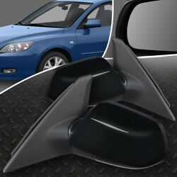 For 04-09 Mazda 3 Pair Oe Style Manual Adjustment Side Door Mirror Left+right