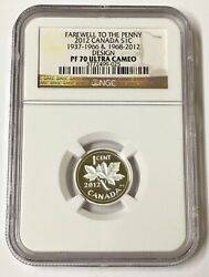 2012 S1c Canada Farewell To The Penny 1937-1966and 1968-2012 Design Ngc Pf 70 U/c