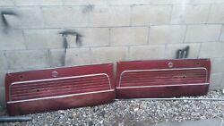 Oldsmobile F85 Cutlass 1962 Door Panel Left Right With Chrome Top Red