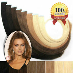 Skin Weft Pu 3m Tape In Remy Real 9a Human Hair Extensions Natural Hair 16-26