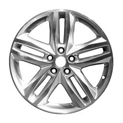 19 X 7.5; 5 Double Spoke Aluminum Alloy Wheel Machined and Silver 05832