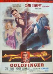 James Bond Goldfinger French Moyenne Movie Poster 1964 Sean Connery Very Rare