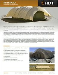 Us Military Base-x Tent Airbeam Shelter Shade Fly Commerial Canvas - 22'x55'x10'