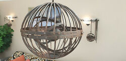 Large Antique 19th Century Ships` Gyroscopic Gimble Whale-oil Lamp @ 1820