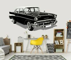 3d Oldtimer O03 Car Wallpaper Mural Poster Transport Wall Stickers Amy