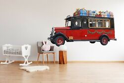 3d Oldtimer O06 Car Wallpaper Mural Poster Transport Wall Stickers Amy