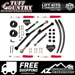 Tuff Country 3 Spacer Leaf Long Control Shocks 94-01 Dodge Ram 1500 4wd 33915kn