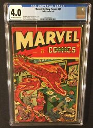 Marvel Mystery Comics 65 Cgc 4.0 Golden Age Timely 1945 Schomburg Cover 10 Cent