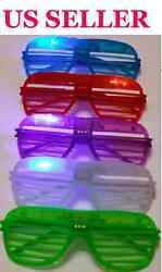 LED Shutter Glasses Light Up Shades Flashing Rock Rave Wedding Party Supplies