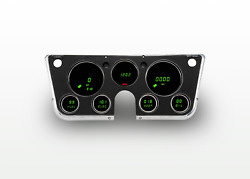 1967-1972 Chevy Truck Digital Dash Panel Gauge Cluster GREEN LEDs Made In The US