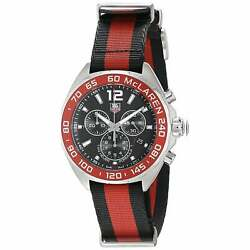 Tag Heuer Menand039s Caz1112.fc8188 And039formula Oneand039 Chronograph Red Black Canvas Watch