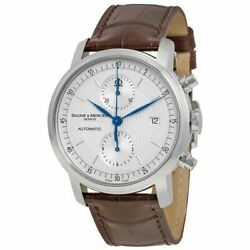 Baume And Mercier Menand039s Moa08692 Classima Chrono Automatic Brown Leather Watch