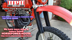 40mm 58mm 315mm Fork Boots Gaiters For Many 1970's 80's Dirtbikes Maico Bultaco