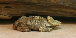 Zuni Horned Toad Lizard Fetish Signed New Picasso Marble F6693