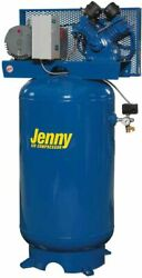 New Jenny 80 Gallon Tank 175 Psi Double Stage Electric Air Compressor