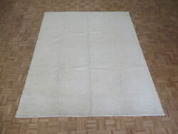 8 X 9and0397 Hand Knotted Washed Out Ivory Fine Peshawar Oriental Rug G7338