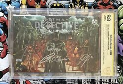 Detective Comics 1000 9.8 Ss Variant Signed 5x Capullo Tynion Tomasi King Suayan