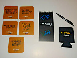 City On A Hill Cast Signed Autographed Promo Lot Kevin Bacon Jill Hennessey Wow