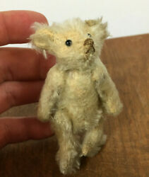 Antique Vintage Jointed Mohair Mini Small Toy Steiff Bear 1800and039s 1900and039s Children