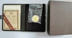 1985 Canada 100 Dollars Gold Coin National Parks 9999 1/2 Troy Oz.