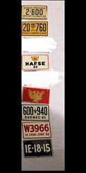 Bicycle Mini License Plate Cereal Lot Of 7 Worldwide Quebec Edward Island