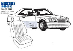 Mercedes 300ce Front Leather Seat Cover Set 88-89 Oem New