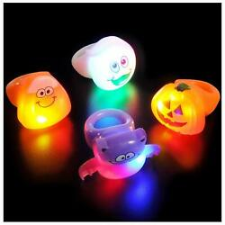 Lumistick Halloween Ghouls Led Flashing Light Up Bright Comfortable Finger Rings