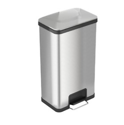 Trash Can Step On Kitchen Stainless Steel 18 Gallon Durable Pedal Odor Control