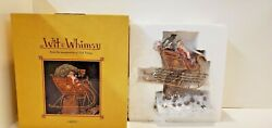 Ned Young Figurine Wit And Whimsy Santa Claus 2004 Lang And Wise Oops Crashed Sleigh