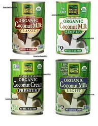 Native Forest Organic Coconut Milk - Unsweetened Classic, Simple, Light And Cream