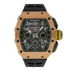 Richard Mille Titanium & Rose Gold Flyback Chronograph Watch RM11-03