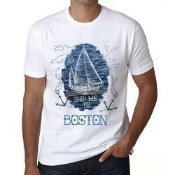 Ultrabasic Men#x27;s Graphic T Shirt: Ship Me to BOSTON