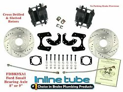 Ford 9 8 Rear Axle End Disc Brake Conversion Kit Small Bearing Cross Nopark