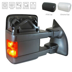 Textured Right Side Mirror for Ford Truck Power Power Folding Heated w/Signal