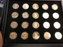 2012 Presidential Dollar Set - P And D Unc, Satin And S-proof 20 Coins