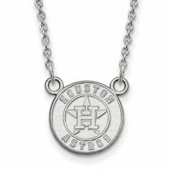 Ss Mlb Houston Astros Small Pendant W/necklace