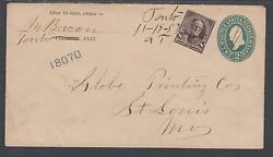 Us Sc 272 Uprates 1897 U312 Entire, Tonto, At Postmark, 1 Of 3 Known Examples