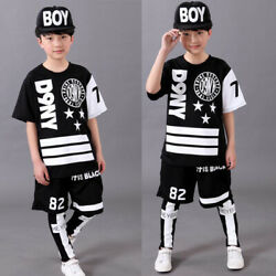 Boys Modern Jazz Dancewear topsPant Kids Hip Hop Party Ballroom Dance Costumes
