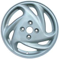 98-02 Ford Escort Mercury Tracer 15X5.5 Factory 6 Spoke Swirl Silver Wheel 3247