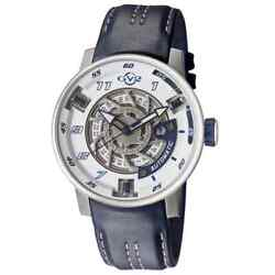 Gv2 By Gevril 1301 Motorcycle Sport Le Automatic Blue Leather Strap Menandrsquos Watch