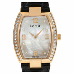 Concord La Scala 54 G3 1480.0 18k rose gold MOP diamond dial & bezel 33mm...