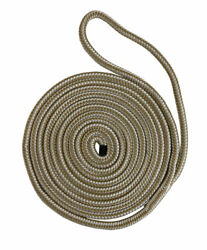 Buccaneer Rope 30-00535 5/8 Inch X 35 Ft. White/gold Double Braid Dock Line