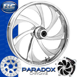 Rc Components Paradox Chrome Custom Motorcycle Wheel Harley Touring Baggers 21