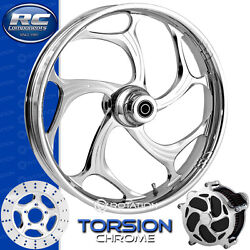 Rc Components Torsion Chrome Custom Motorcycle Wheel Harley Touring Baggers 21