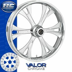 Rc Components Valor Chrome Custom Motorcycle Wheel Harley Touring Baggers 21